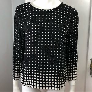 J Crew Top Size 6 Dotted Keyhole Back Blouse